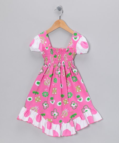 Hot Pink Summertime Smocked Dress - Infant, Toddler & Girls