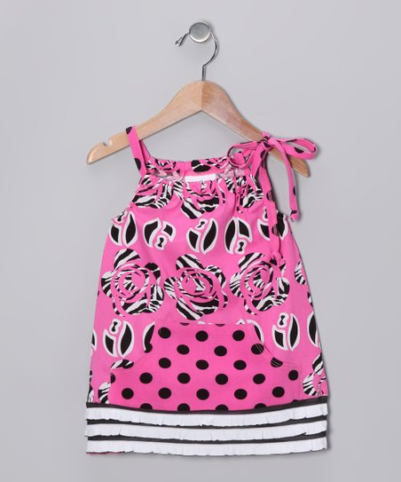 Pink Wildflower Swing Tunic - Infant, Toddler & Girls