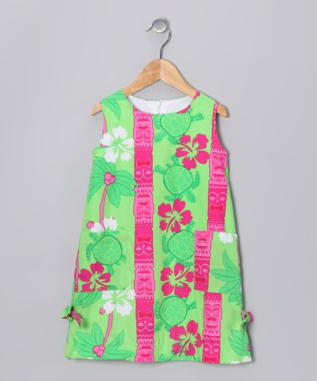 Lime Tiki Time Shift Dress - Infant & Girls