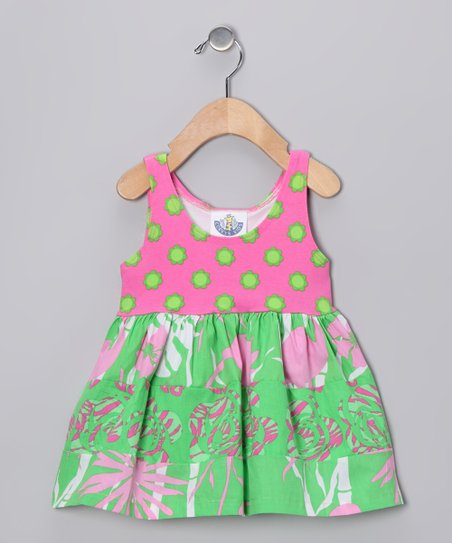 Kiwi Flamingo Princess Babydoll Dress - Infant & Girls