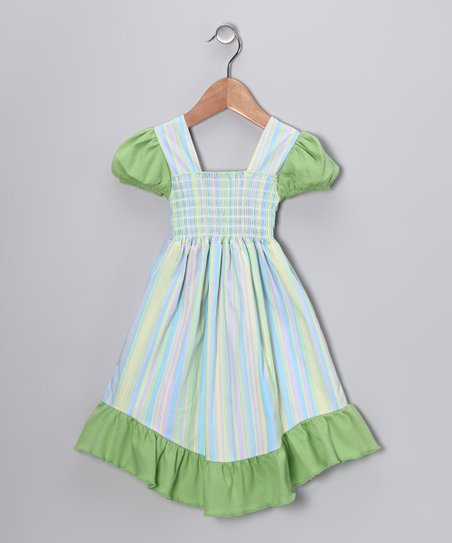 Lavender Corky Stripe Smocked Dress - Infant, Toddler & Girls