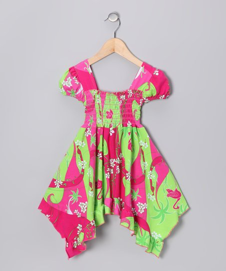 Pink Flamingo Deco Smocked Dress - Infant, Toddler & Girls