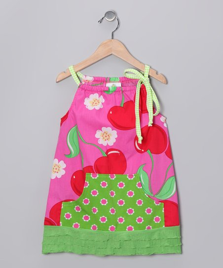 Pink Cherry Swing Tunic - Girls