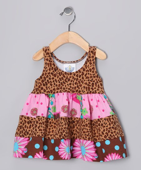 Brown Leopard Babydoll Dress - Infant, Toddler & Girls