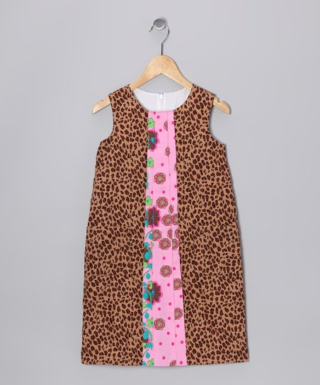 Brown Leopard Shift Dress - Infant, Toddler & Girls