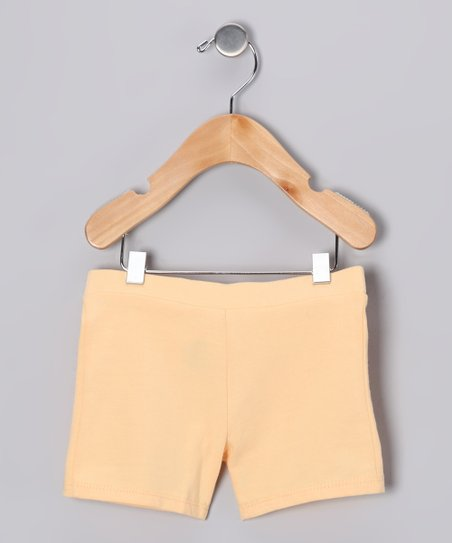 Peach Bike Shorts - Infant, Toddler & Girls