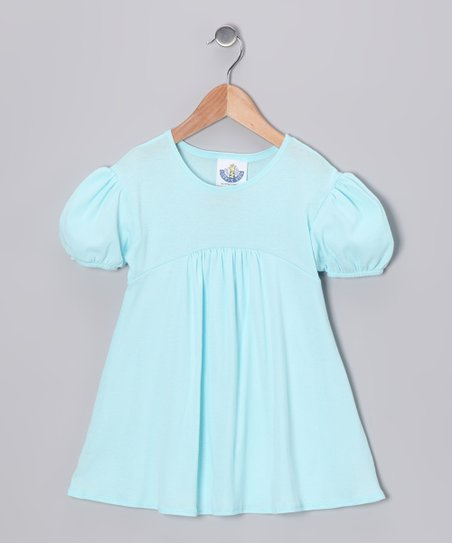 Light Blue Babydoll Top - Girls