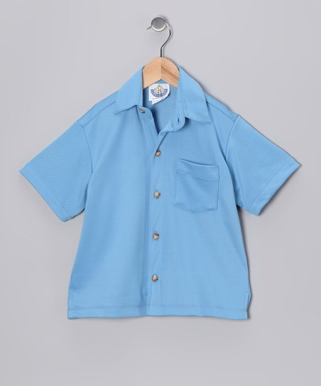 Denim Pique Camp Button-Up - Infant, Toddler & Boys