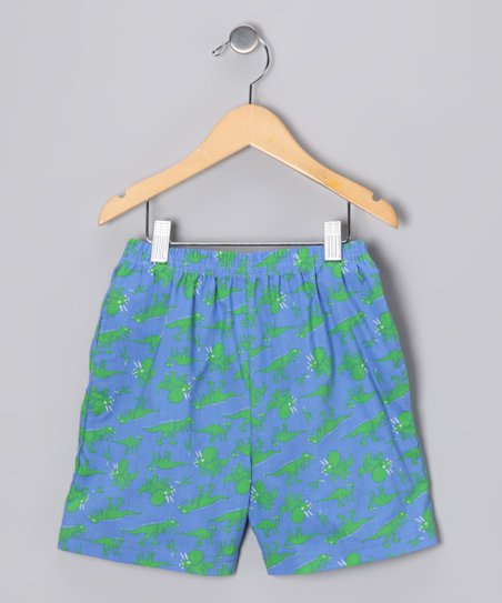 Blue Dino Everyday Shorts - Infant, Toddler & Boys