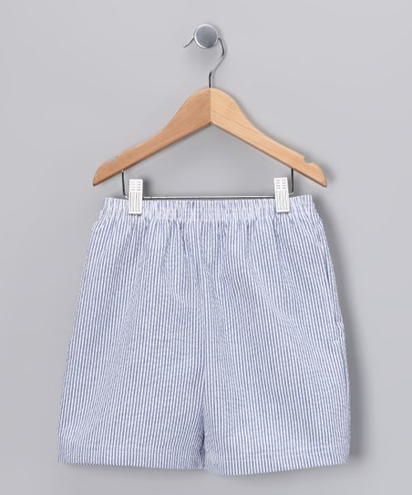Navy Stripe Everyday Shorts - Infant, Toddler & Boys
