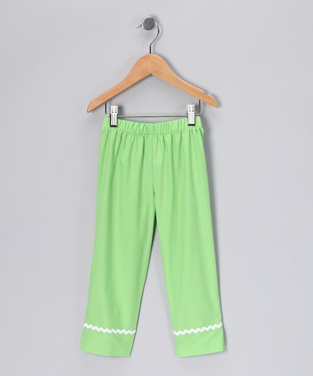 Green Capri Pants - Infant, Toddler & Girls