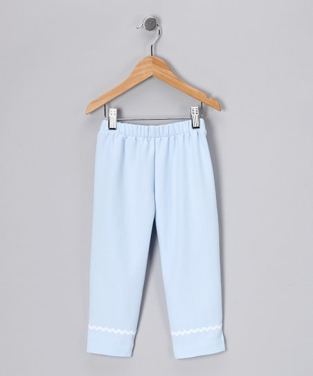 Light Blue Capri Pants - Toddler & Girls