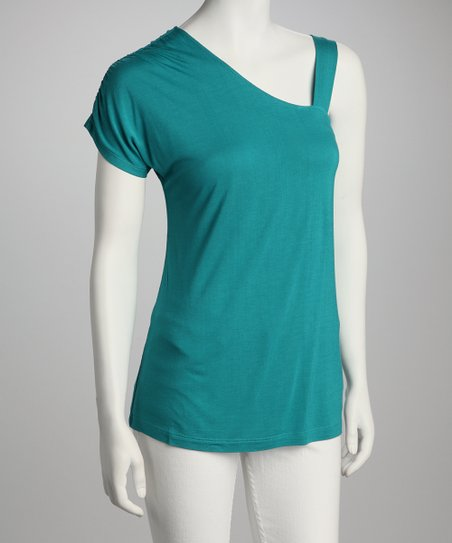 Emerald Asymmetrical Top