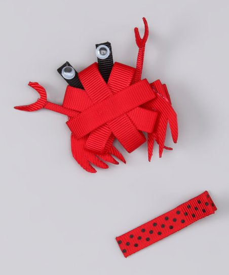 Red Crab Clip Set