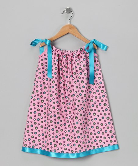 Pink & Teal Star Swing Dress - Infant, Toddler & Girls
