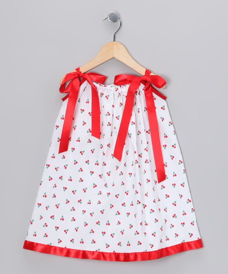 Red & White Cherry Swing Dress - Infant, Toddler & Girls