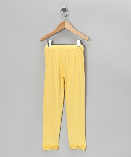Yellow Leggings - Infant, Toddler & Girls