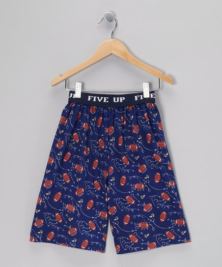 Purple Hoop Star Pajama Shorts - Boys