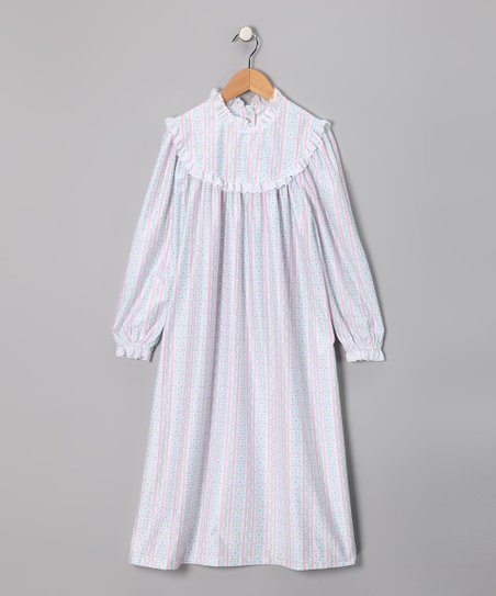 Pink Floral Stripe Nightgown - Infant & Toddler