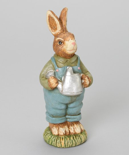 Pail Carrying Antique Bunny Figurine