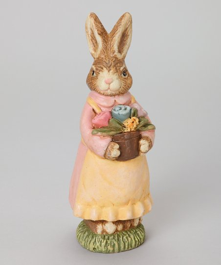 Basket Bearing Antique Bunny Figurine