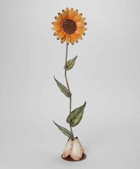 Tin Sunflower Figurine