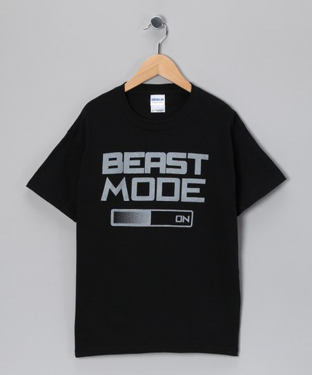 Black &#039;Beast Mode&#039; Video Game Tee - Kids &amp; Adult