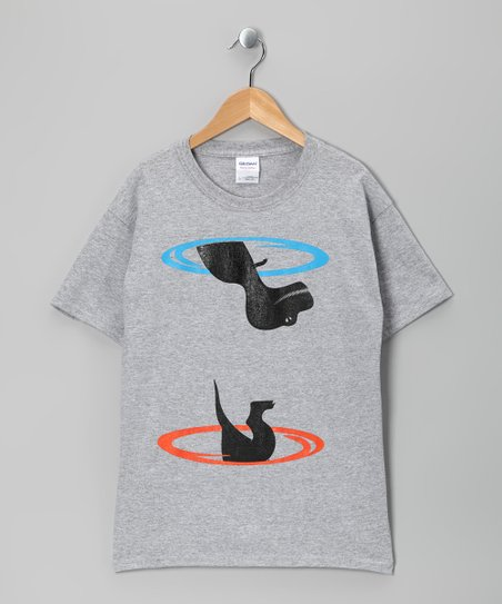 Heather Gray T-Rex Portal Tee - Boys & Men