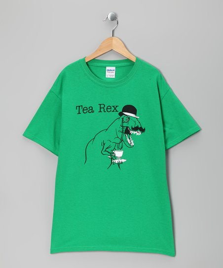Green 'Tea Rex' Tee - Boys & Men
