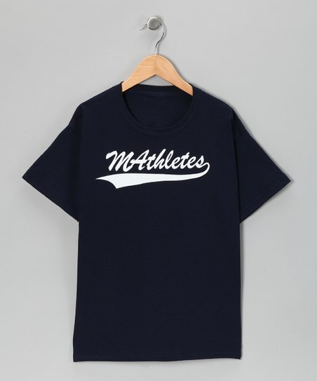 Navy 'Mathletes' Tee - Kids & Adult