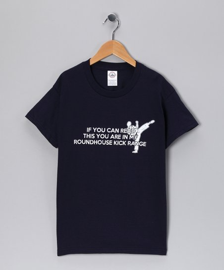 Navy 'Roundhouse Kick Range' Tee - Kids & Adult
