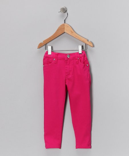 Fuchsia Skinny Pants - Girls