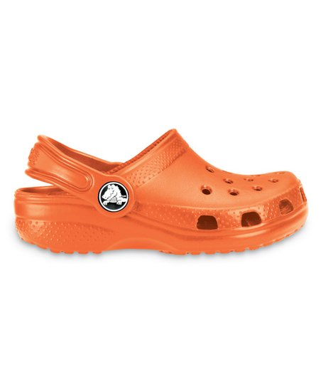Neon Orange Classic Clog - Kids