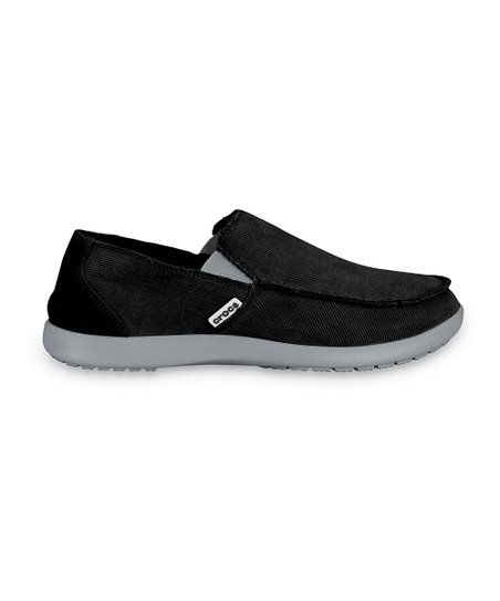 Light Gray & Black Santa Cruz Corduroy Slip-On Shoe - Men
