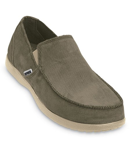 Natural &amp; Khaki Santa Cruz Corduroy Slip-On Sneaker - Men