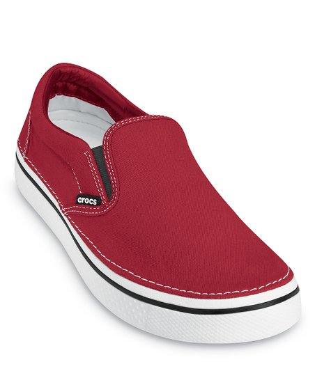 Red & White Hover Slip-On Sneaker - Women & Men