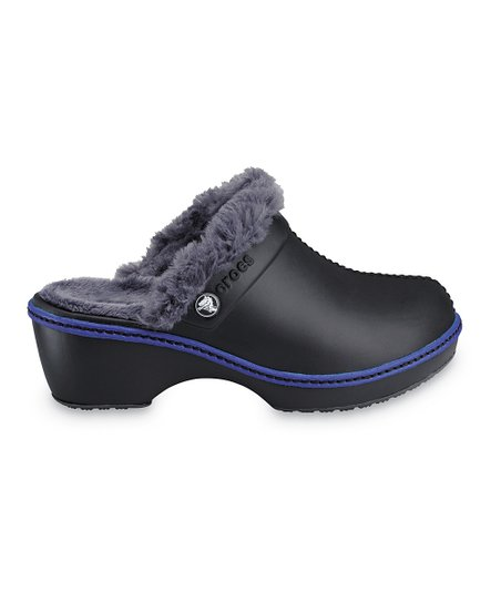 Black & Graphite Cheerful Christy Clog