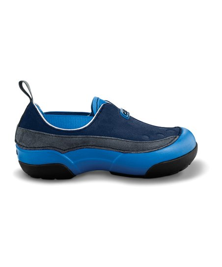 Navy &amp; Graphite Dawson Slip-On Shoe - Kids