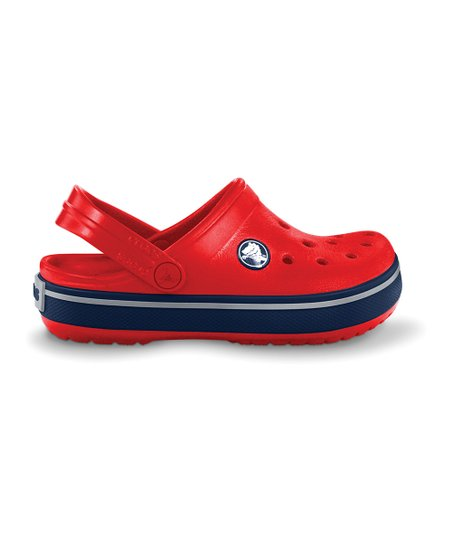 Red &amp; Navy Kerren Clog - Kids
