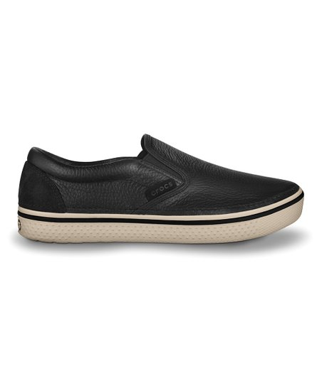 Black & Stucco Hover Slip-On Sneaker - Men & Women