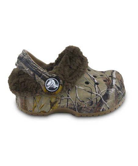 Khaki &amp; Chocolate Realtree Little Mammoth Clog
