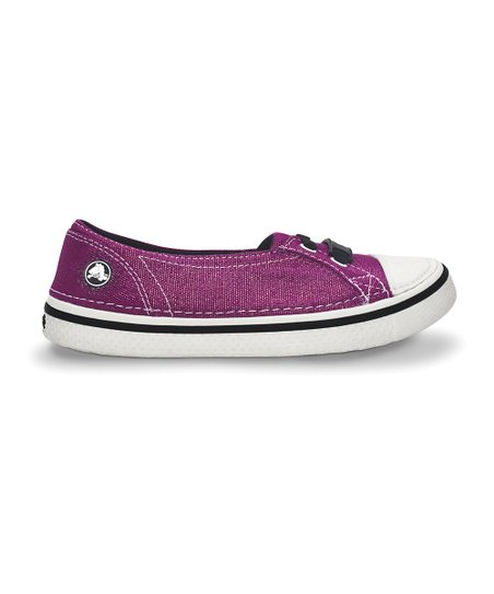 Viola & Black Metallic Hover Skimmer Slip-On Sneaker - Kids