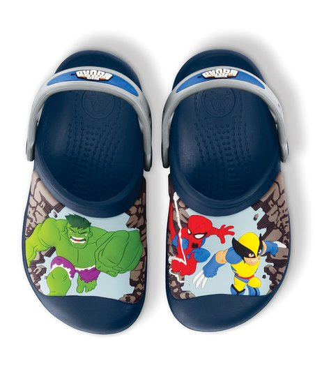 Navy &amp; Silver Superhero Squad Clog - Kids