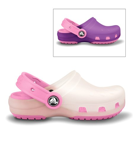 Oyster &amp; Pink Lemonade Chameleon Clog - Kids