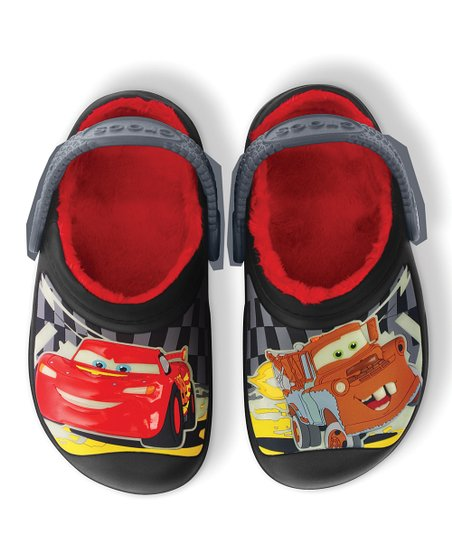 Black &amp; Charcoal Cars Glow-in-the-Dark Clog - Kids