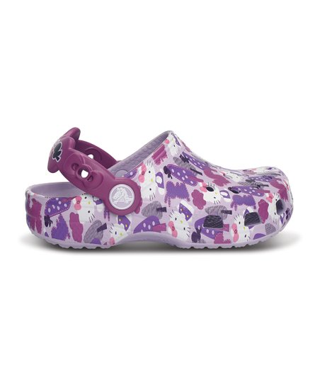 Lavender &amp; Viola Classic Hello Kitty Forest Clog - Kids