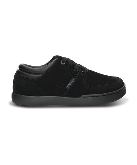 Black Dashiell Leather Sneaker - Kids