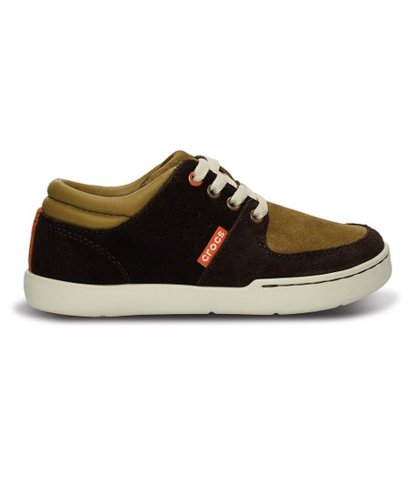 Espresso & Russet Dashiell Leather Sneaker - Kids