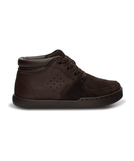 Espresso & Java Leather Chukka Boot - Kids