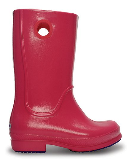 Hot Pink Patent Wellie Rain Boot - Kids